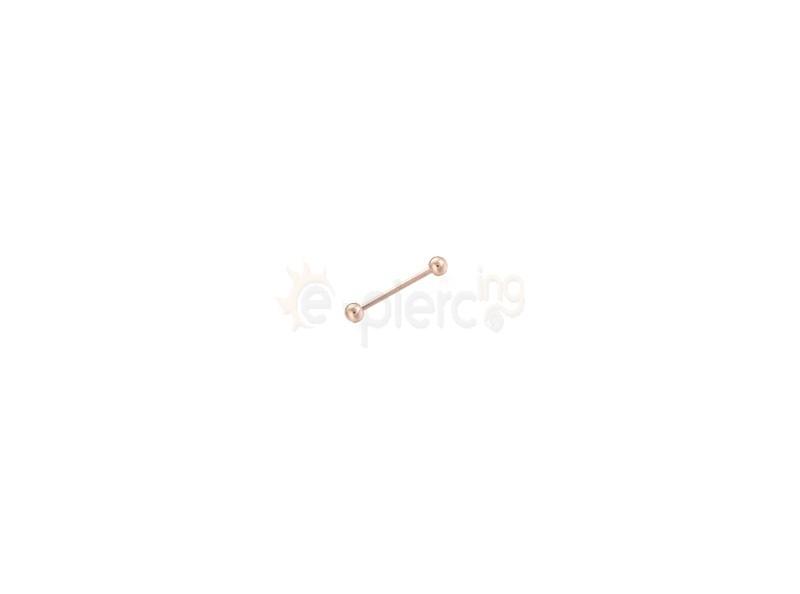 Rose Gold λεπτή μπάρα 1mm 316L