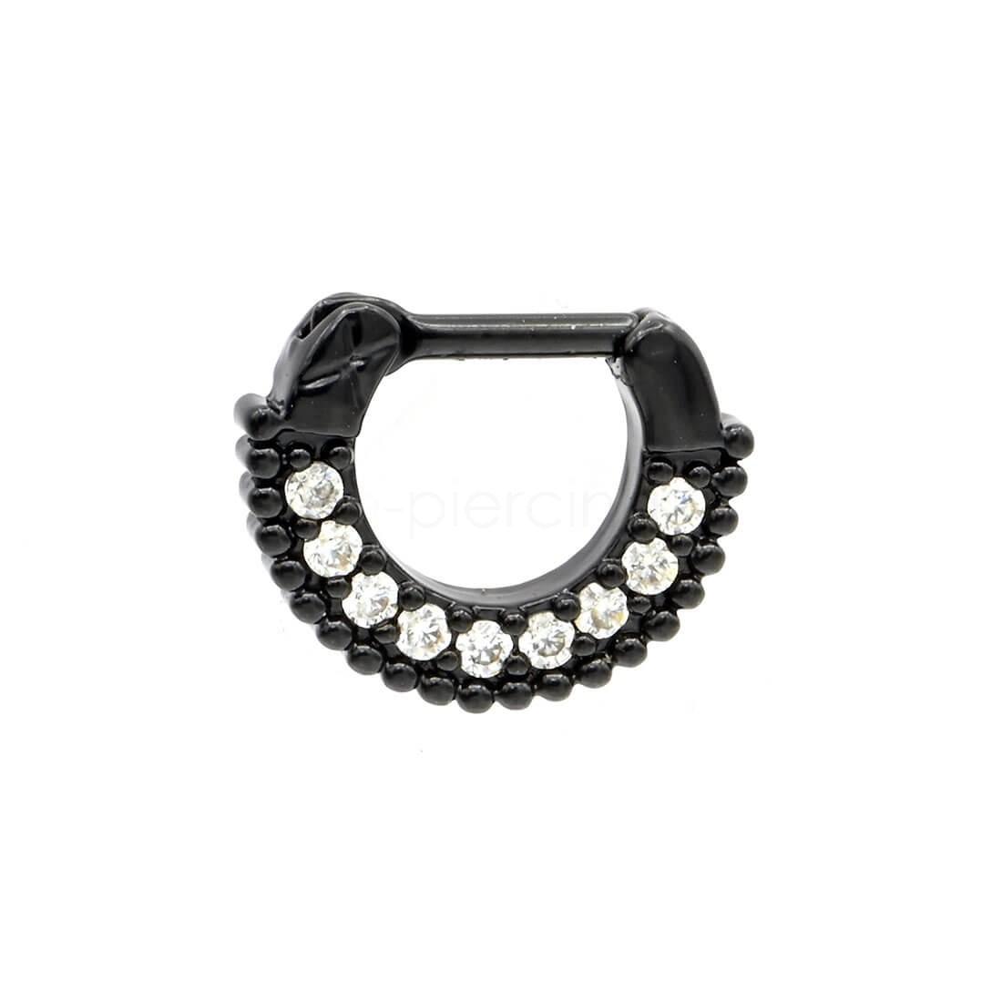 Μαύρο Septum 7mm με ζιργκόν πέτρες 59459