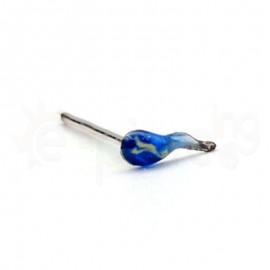 Ασημένιο σκουλαρίκι μύτης με σμάλτο-Blue 10040