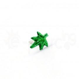 Ασημένιο σκουλαρίκι μύτης φύλλο φωσφορούχο-Green 10126
