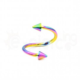 Rainbow spiral 10mm with cones 14070
