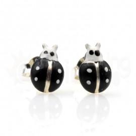 Ασημένια σκουλαρίκια πασχαλίτσες-Black