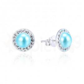 Ασημένια σκουλαρίκια με πέτρες 20310