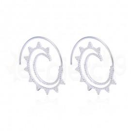 Ασημένια σπιράλ σκουλαρίκια 20312