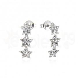 Ασημένια σκουλαρίκια αστεράκια 21100
