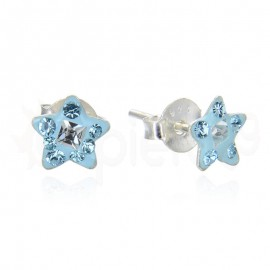 Ασημένια σκουλαρίκια αστεράκια 21104