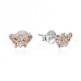 Ασημένια σκουλαρίκια πεταλούδα 21106