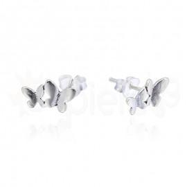 Ασημένια σκουλαρίκια διπλή πεταλούδα 20116