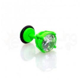 Πράσινο σκουλαρίκι ζιργκόν 8mm 50359