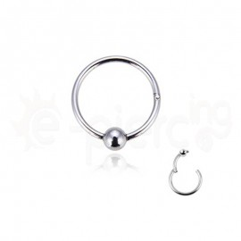 Segment Ring Piercing 8mm Clicker with ball 50460