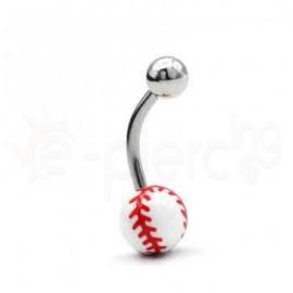 Σκουλαρίκι αφαλού Baseball 50683