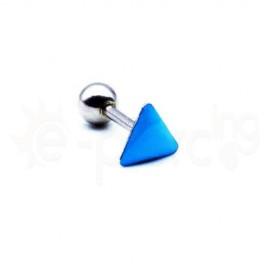 Σκουλαρίκι Tragus με γαλάζιο σμάλτο 50748