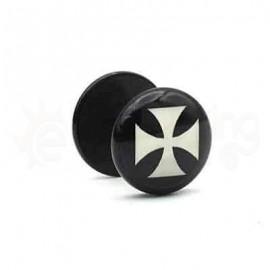 Μαύρη τάπα logo 10mm 50767