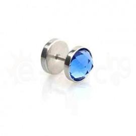 Τάπα με μπλε κρύσταλλο 10mm 50885