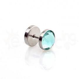 Τάπα με γαλάζιο κρύσταλλο 10mm 50889
