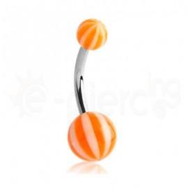Σκουλαρίκι αφαλού multi stripe-orange 51257