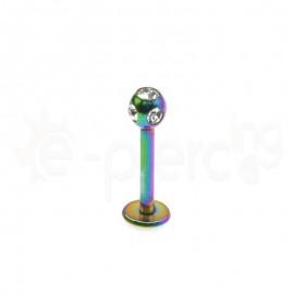 Rainbow σκουλαρίκι για χείλη 3mm 59727