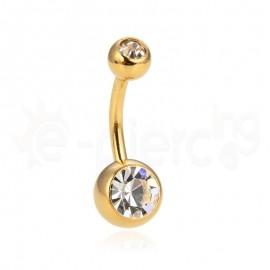 Gold plated σκουλαρίκι αφαλού 59786