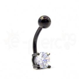 Σκουλαρίκι αφαλού ζιργκόν 6mm 59841