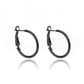 Μαύρος κρίκος με κλιπ Stainless Steel 59993