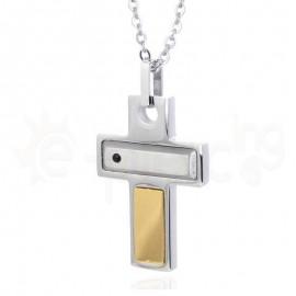 Σταυρός ατσάλι, unisex 720322