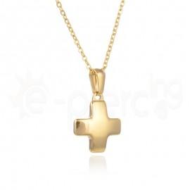 Επίχρυσος σταυρός ατσάλι 316L Unisex 720411