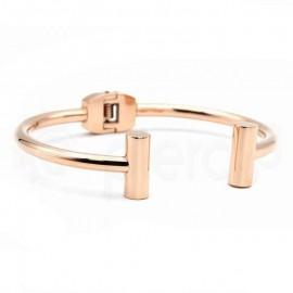 Βραχιόλι ατσάλι 316L-Rose Gold Steel 740242