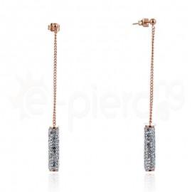 Κρεμαστά σκουλαρίκια από ανοξείδωτο ατσάλι 750108