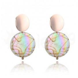 Ροζ σκουλαρίκια από ανοξείδωτο ατσάλι 750158