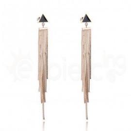 Ροζ σκουλαρίκια από ανοξείδωτο ατσάλι 750165