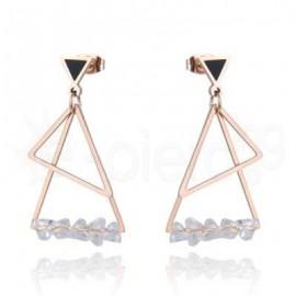 Ροζ σκουλαρίκια από ανοξείδωτο ατσάλι 750169