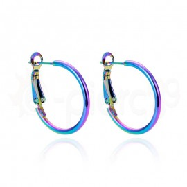 Rainbow κρίκος με κλιπ Stainless Steel 25mm 780514