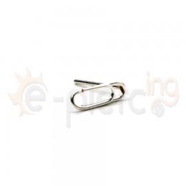 Ασημένιο σκουλαρίκι μύτης συνδετήρας