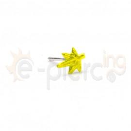 Ασημένιο σκουλαρίκι μύτης φύλλο φωσφορούχο