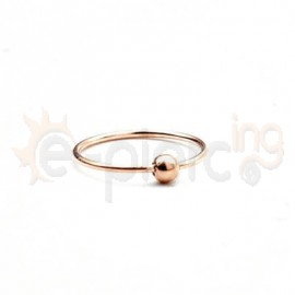 Rose Gold κρίκος με μπίλια 10150