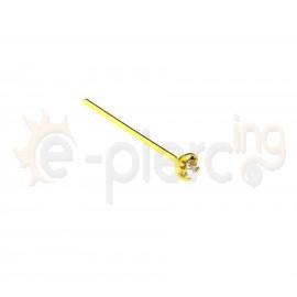 Επίχρυσο σκουλαρίκι μύτης Strass 1.5mm 10178
