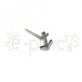 Ασημένιο σκουλαρίκι μύτης άγκυρα 10229C