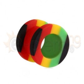 Flesh Tunnel Acrylic Rasta 10560