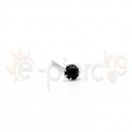 Ασημένιο σκουλαρίκι μύτης μαύρο στρας 10802