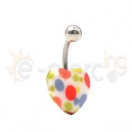 Σκουλαρίκι αφαλού καρδιά bubble 11203
