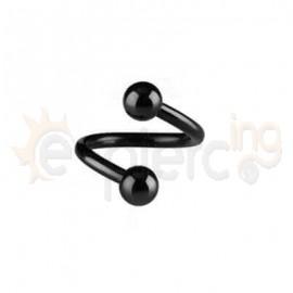 Μαύρο twister με μπίλιες 10mm 14058