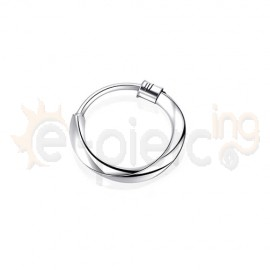 Στριφτός κρίκος μύτης 10mm ασήμι 925 15075