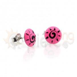 Ασημένια σκουλαρίκια με σμάλτο Κωδ: 20003