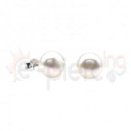 Ασημένια σκουλαρίκια πέρλα Κωδ: 20005