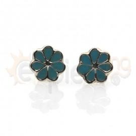 Ασημένια σκουλαρίκια μαργαρίτα Κωδ: 20001