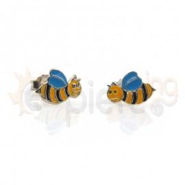 Ασημένια σκουλαρίκια μέλισσες Κωδ: 20011