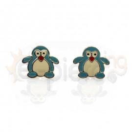 Ασημένια σκουλαρίκια πιγκουίνοι