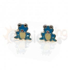 Ασημένια σκουλαρίκια βάτραχοι