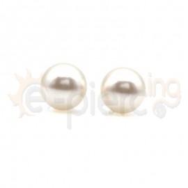 Ασημένια σκουλαρίκια πέρλες