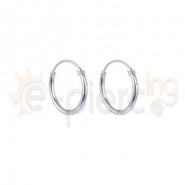 Ασημένια κρικάκια 1,2mm επιπλατινωμένα-Κωδ:20029